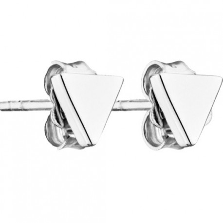 Triangle Silver Earrings Play