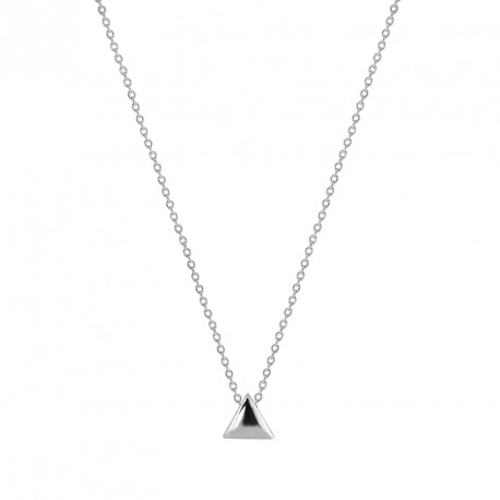 Small Triangle Silver Necklace Play