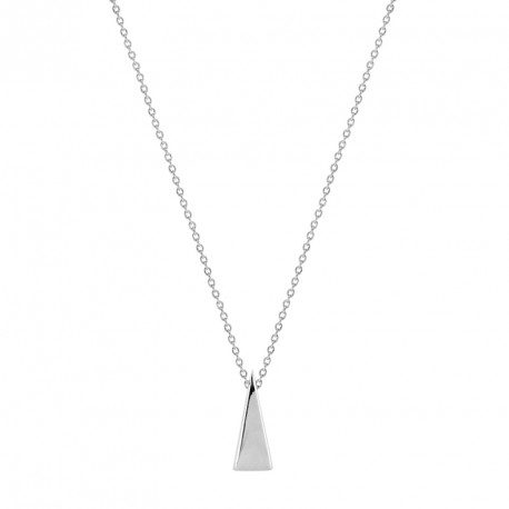 Collier Argent Grand Triangle Come out and play