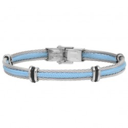 Cord and steel cable 3 stds bracelet Everyday