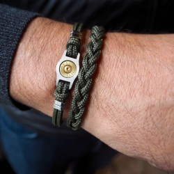 Braided cord and Steel Bracelet - Bang Bang
