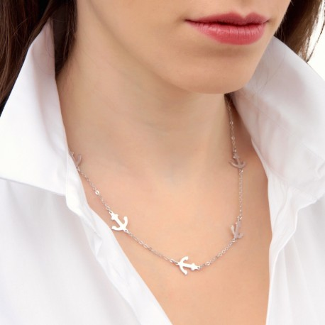 Collier Argent Ancres