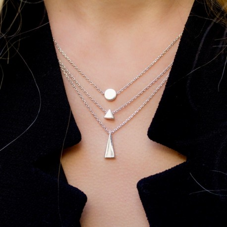 Collier Argent Pastille Come out and play