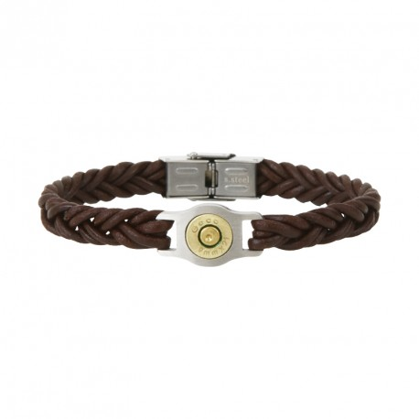 Steel and braided cord bracelet PM - Bang Bang