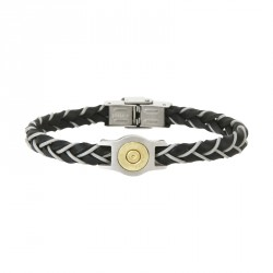 Unisex Steel and braided cord bracelet PM - Bang Bang