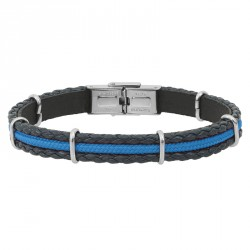 LEATHER AND CORD BRACELET ARNO