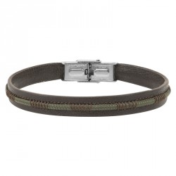 leather bracelet topped with a stitched cord AXEL