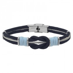 STEEL CABLE BRACELET WITH MARINE KNOT