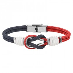 TWO-TONE BRACELET ALIA MARINE CORD AND ROPE
