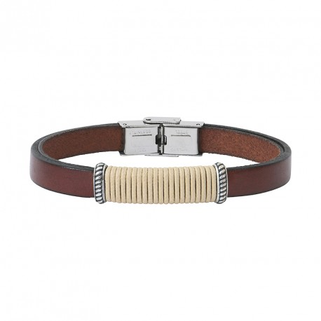 LEATHER AND CORD BRACELET ANDREA