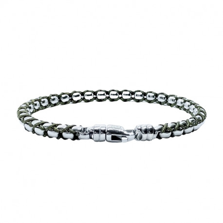 Steel bracelet, chain and cord Jacky