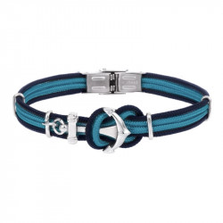 Anchor bracelet DONI 2 colors - blu line