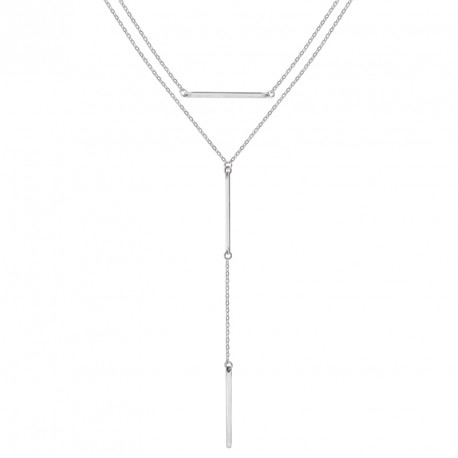 Collier Argent Y double Bond St.