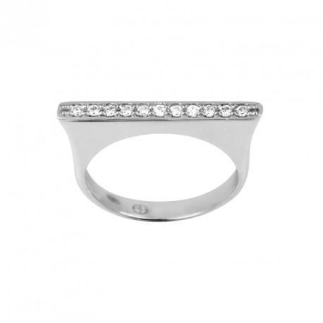 Zirconia Silver Ring Bond St.