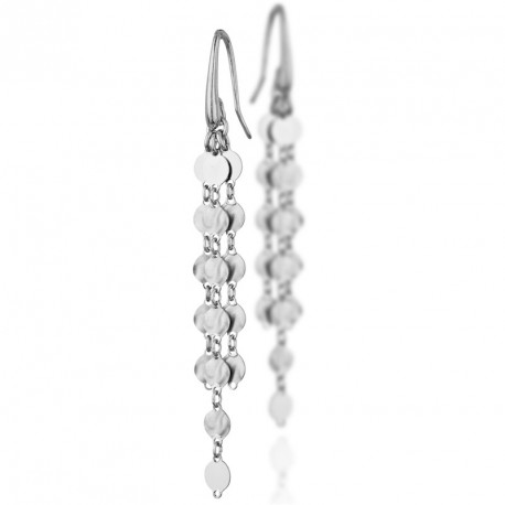 Dangling Silver Earrings Moonlight
