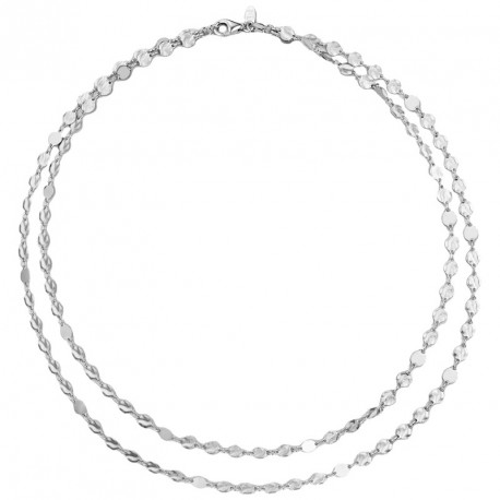 2 Strands Silver Necklace Moonlight