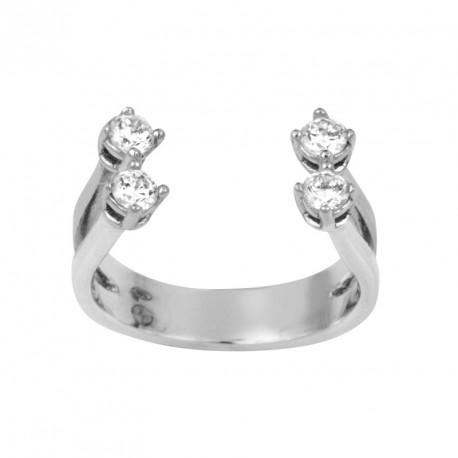 MM Zirconia Silver Ring OZ