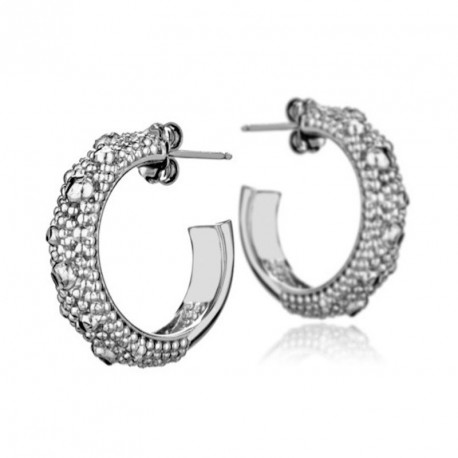 Silver Large Hoop Earrings MoonRocks