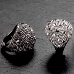 Silver Boule Ring MoonRocks