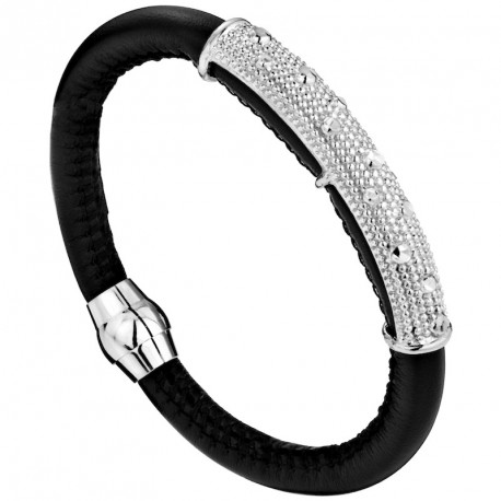 Leather and Silver Bracelet MoonRocks