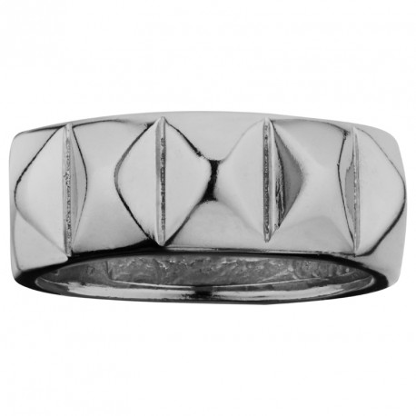 MM Stud Silver Ring Rebel
