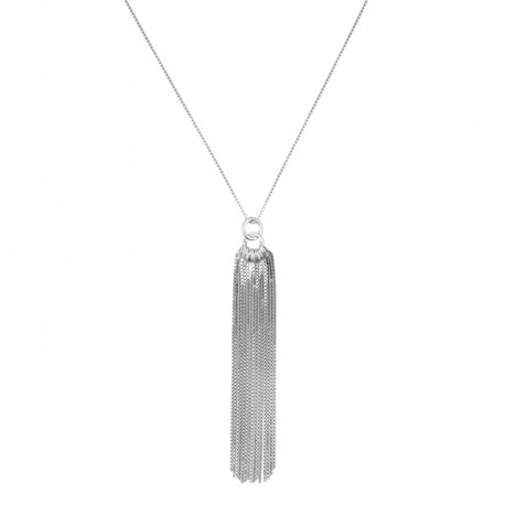 Collier Argent Pendentif chainettes Unchained Melody