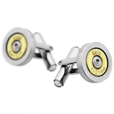 Bullet and Steel cufflinks - Bang Bang