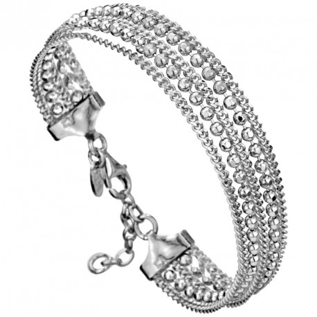 GM Silver Multi-chain Bracelet Melody