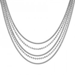 Collier Argent 5 rangs - Unchained Melody