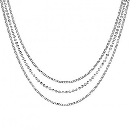 Collier Argent 3 rangs - Unchained Melody