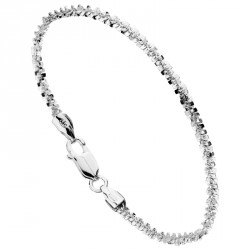 "Bracelet Argent Maille ""K"" Unchained Melody"