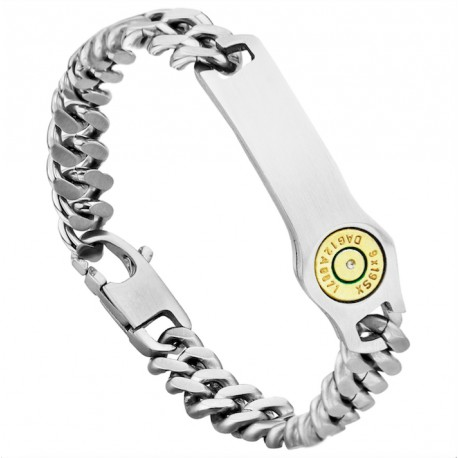 Bullet and Steel Chain Bracelet - Bang Bang