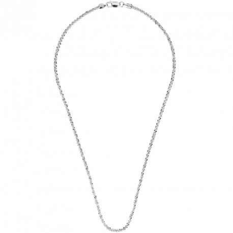"""K"" Silver Chain Necklace Melody"