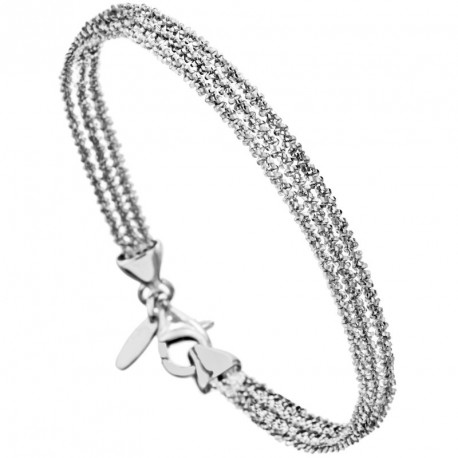 3 Stands Margarita Silver Chain Bracelet Melody