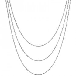 3 Stands Margarita Silver Chain Necklace Melody