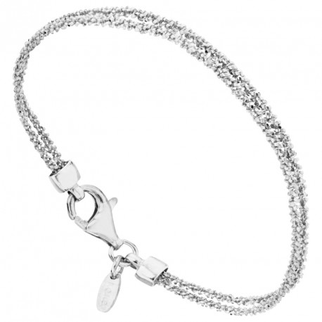 Bracelet Argent 2 rangs Maille Margarita Unchained Melody