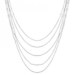 "Fancy Silver ""M"" Chain Necklace Melody"