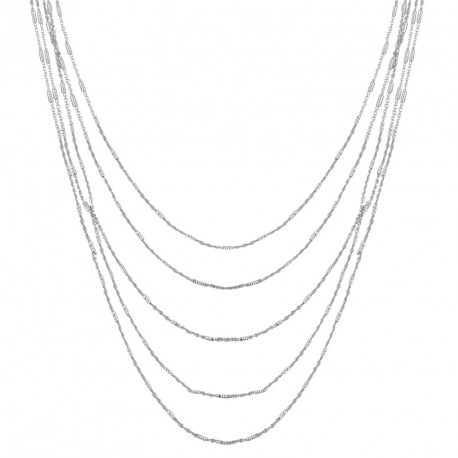 "Collier Argent Chaine Fantaisie ""M"" Unchained Melody"