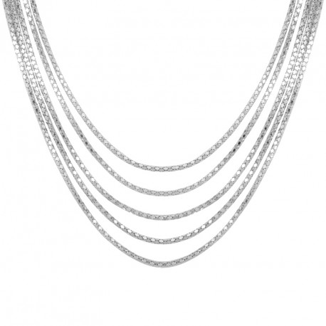 Fancy Silver Necklace Melody