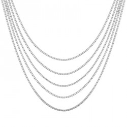 Venitian Silver Stitch Necklace Melody