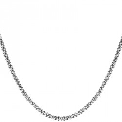 Popcorn Silver Chain Necklace Melody