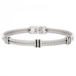 Bracelet câble acier 2 rangs-Everyday Whiter