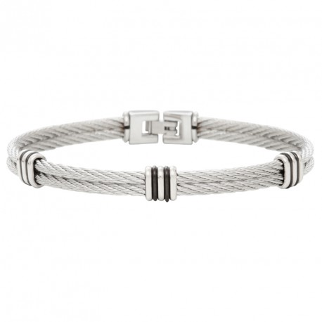 Steel and cable bracelet 2 stds Everyday