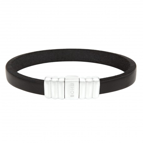 Steel and leather bracelet Everyday