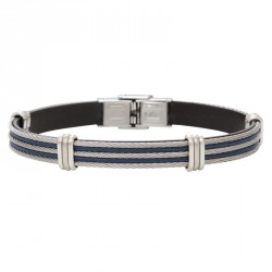 Bracelet cuir et cable acier GM-Everyday In the mix
