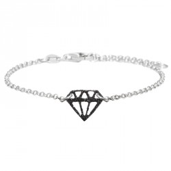 Bracelet Argent Diamant Glitter Diamonds are a Girl's BF