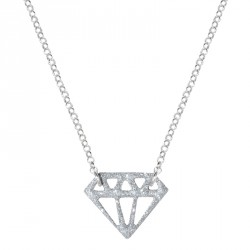 Diamond Silver Glitter Necklace