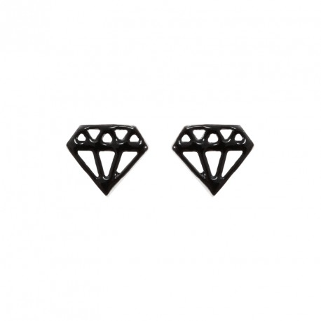 Diamond Silver Lacquered Earrings