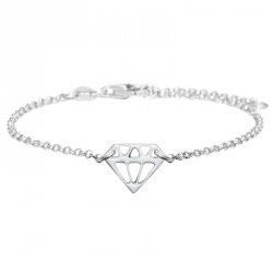 Bracelet Argent Diamant Laqué Diamonds are a Girl's BF
