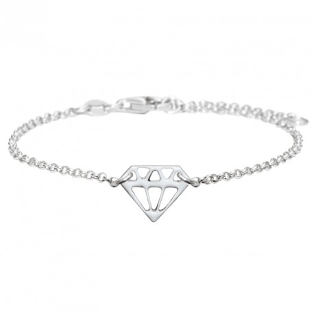 Diamond Silver Lacquered Bracelet